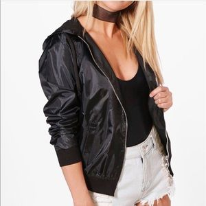Boohoo Lucy hooded light weight festival bomber